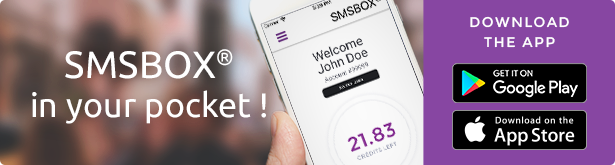 Send your SMS from anywhere, all over the world, and at flat rate !
